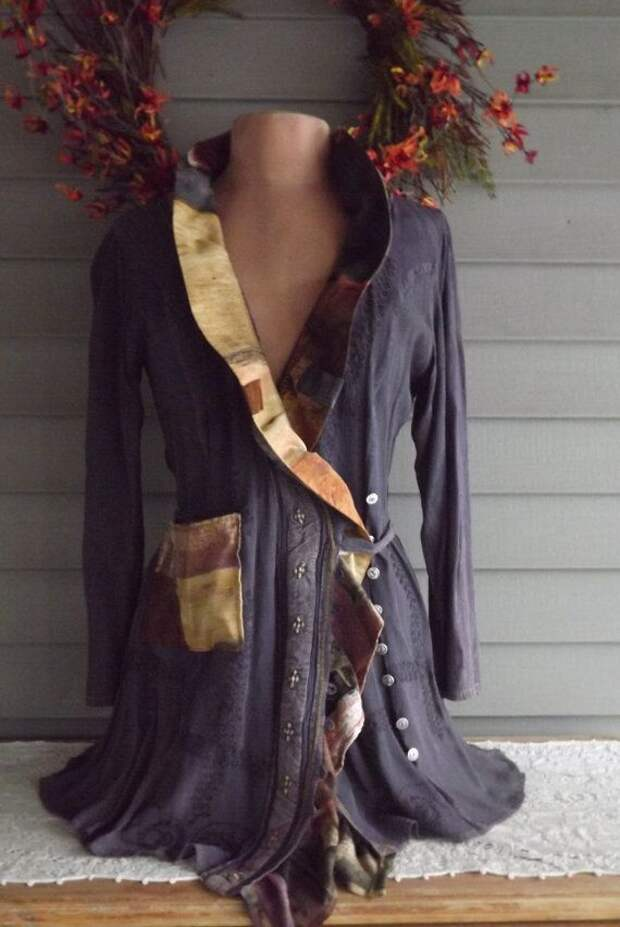 Lagenlook French Tunic Jacket Upcycled by bluemermaiddesigns, $84.00