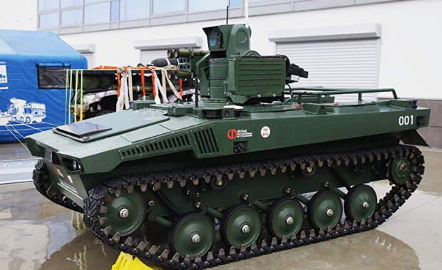 Forbes (США): российский боевой робот проходит важный этап испытаний (и запускает рой дронов)