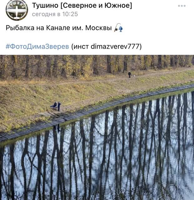 Фото дня: рыбалка на Канале имени Москвы