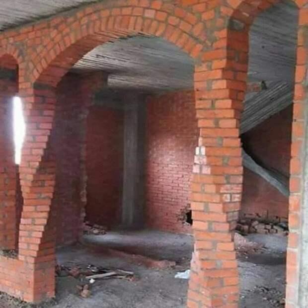 Витые кирпичные колонны