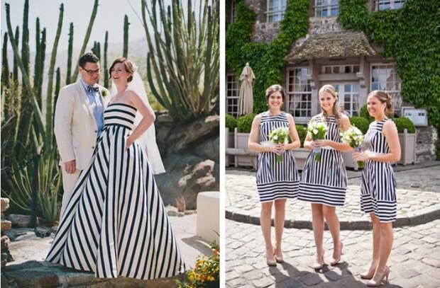 Полосатые свадьбы и их фото (трафик)