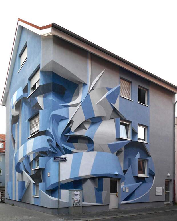 Это всего лишь граффити на стенах. Удивительное искусство, да?