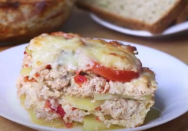 Картофель с мясом в духовке по-сербски