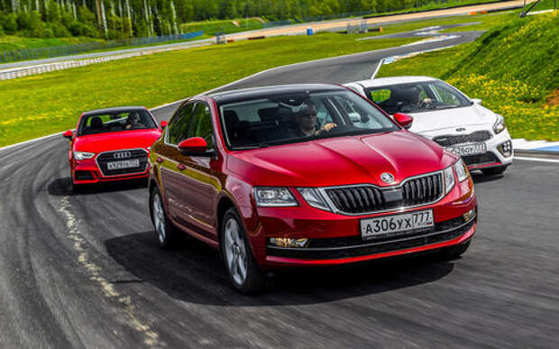 Skoda Octavia против конкурентов из Audi и Kia: кольцо для троих