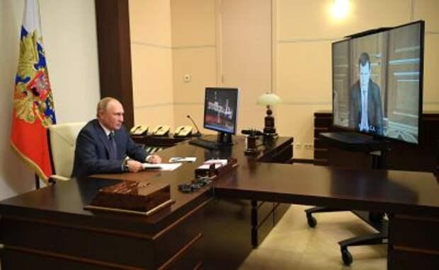 Владимир Путин с Сергеем Куликовым