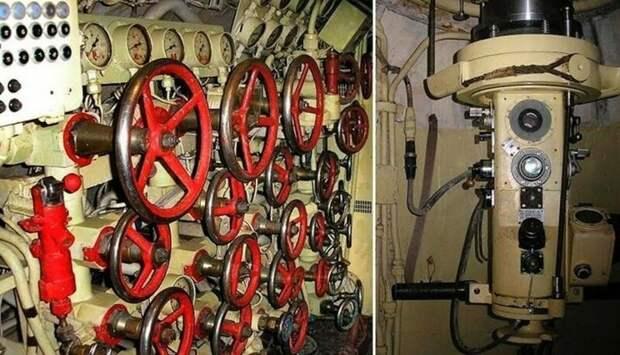 Еще элементы интерьера, но уже другой советской лодки B-413, 1968 года. армия, подводные лодки, флот