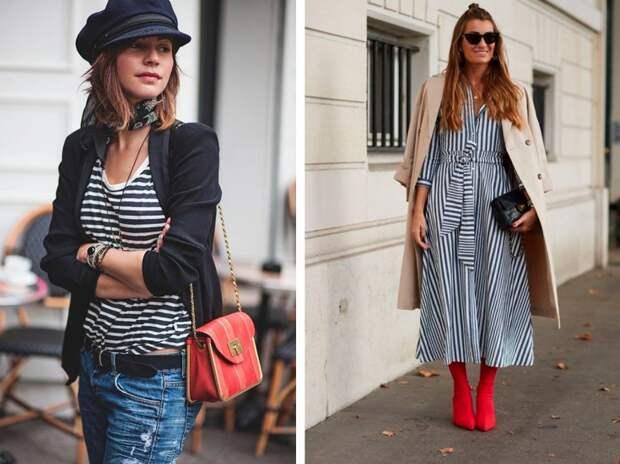 полосатая одежда мода