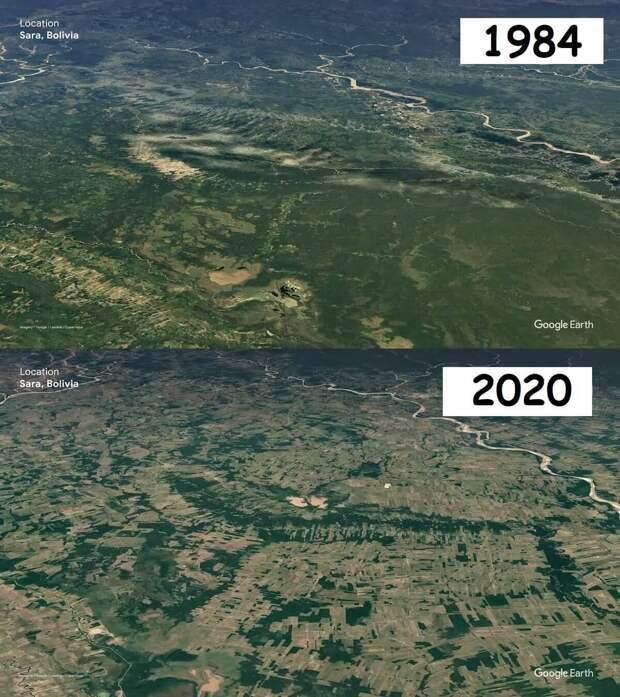 12 снимков тогда и сейчас, как наша планета изменилась с 1984 по 2020 годы