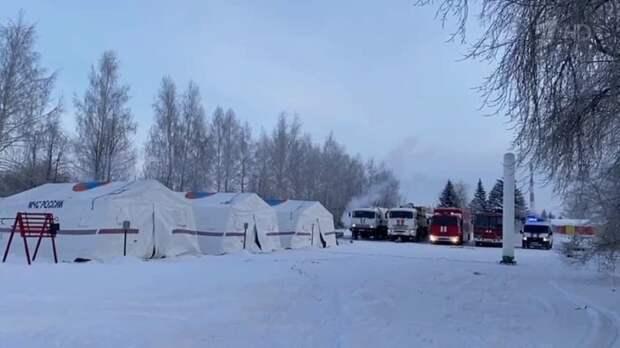 МЧС России разворачивает на федеральных трассах Ленобласти пункты обогрева