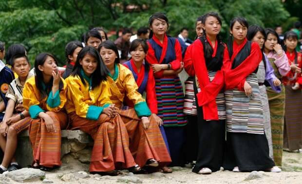 Студенты из Бутана