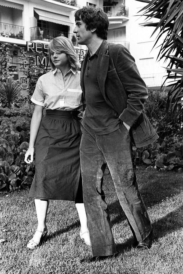 14-летняя Джоди Фостер и Роберт Де Ниро, 1976.