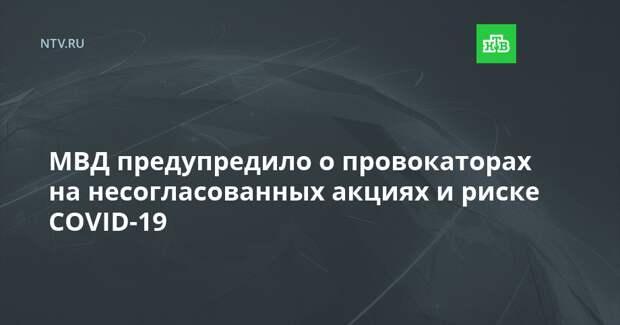 МВД предупредило о провокаторах на несогласованных акциях и риске COVID-19