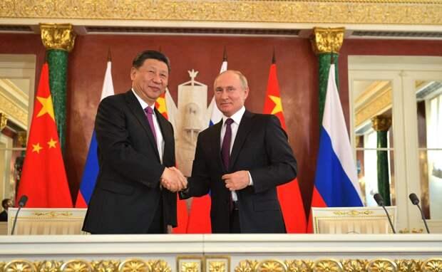 Угроза лидерству США: американские СМИ о переговорах Путина и Си Цзиньпина