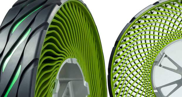Безвоздушные шины, что это, где применяются, а так же плюсы и минусы таких шин!
