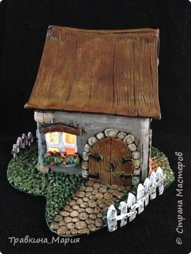 Мастер-класс Поделка изделие Лепка Свечной дом Глина фото 3