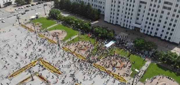 В Хабаровске уличная активность утихает пятую субботу подряд