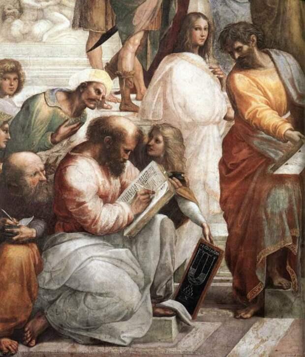 Гипатия Александрийская, египетско-римский философ, астроном и писатель, Рафаэль. \ Фото: stampareggiana.it.