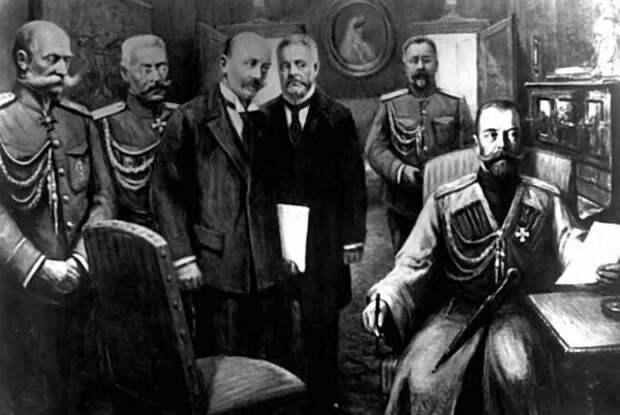 Николай II, отречение, Фридерикс, генерал Рузский, Шульгин, Гучков, Данилов(2017)|Фото: