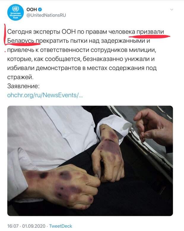 Фейки о Белоруссии распространяют уже на уровне ООН