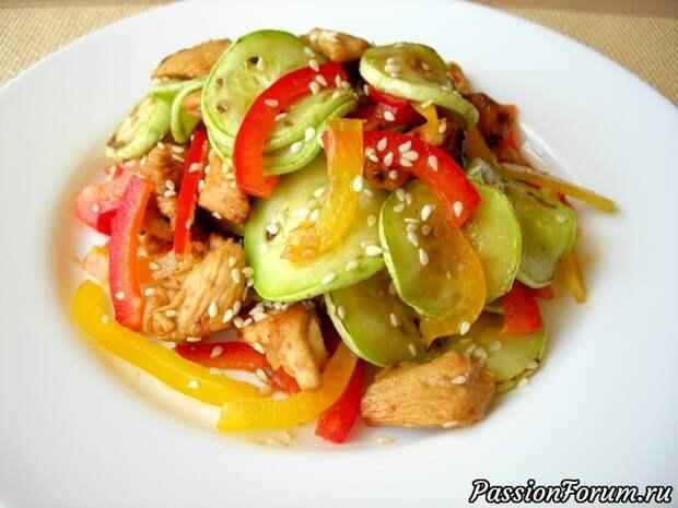 Салат-новинка «ПРИЧУДА» с кабачками и курицей, его вкус вас приятно удивит!