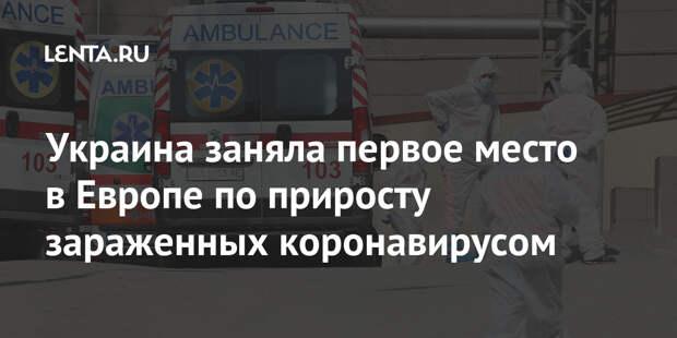 Украина заняла первое место в Европе по приросту зараженных коронавирусом