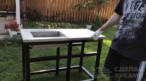 Как сделать раковину со столешницей из бетона