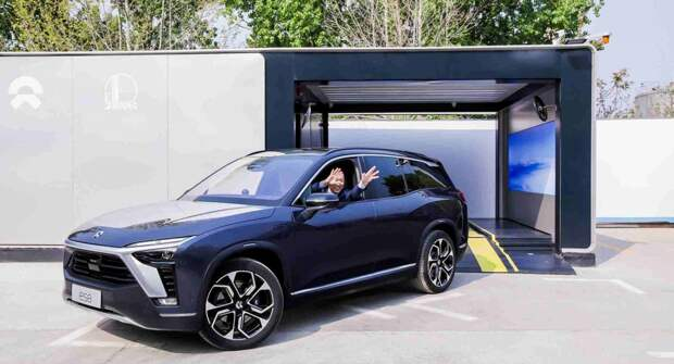 NIO установил в Пекине первую станцию замены батарей для электрокаров 2-ого поколения