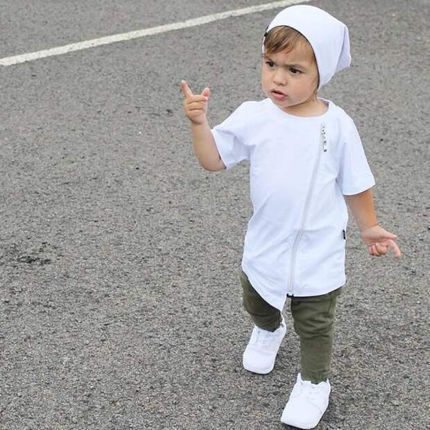 детская одежда в стиле рок и хип хоп