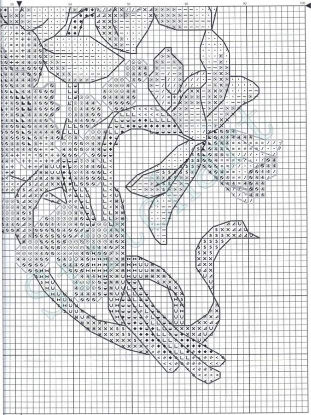 Вышивка «Нарциссы»