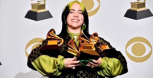18-летняя Билли Айлиш победила во всех основных номинациях «Грэмми»