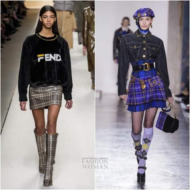 С чем носить юбку в клетку: идеи на заметку