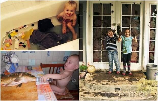 18 уморительных снимков о том, что в жизни родителей малышей нет места скуке