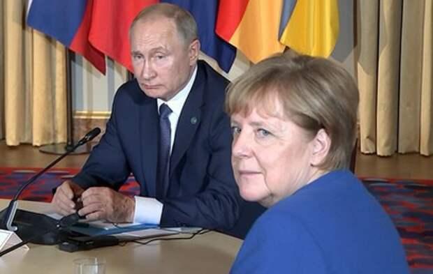 Путин обсудил с Меркель ситуацию в Донбассе