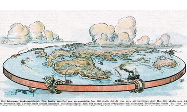 земля плоская