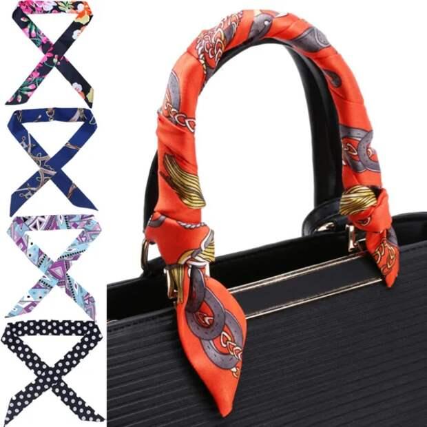 Фото 12  - сумка украшена лентой Твилли.