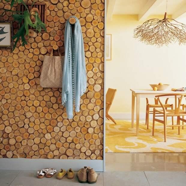 Идеи для воплощения: когда спилы дерева превращаются в модный декор интерьера