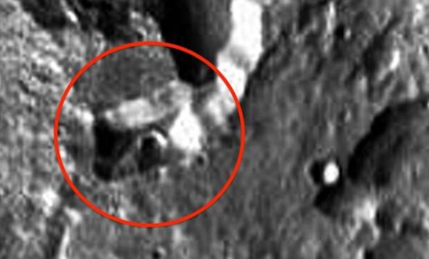 Загадочное гигантское строение на Марсе разглядел уфолог
