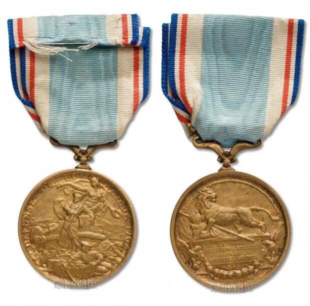 """Французская медаль """"Защитникам Порт-Артура"""""""