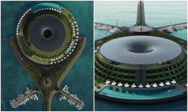 Турецкие архитекторы создали плавающий и вращающийся экоотель