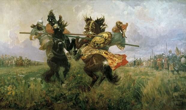 Александр Пересвет и Сергий Радонежский