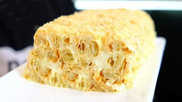 Быстрый торт из 3 ингредиентов Торт, Видео, Длиннопост, Слоеное тесто, Рецепт, Еда, Десерт