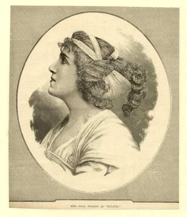 Гравюра актрисы, изображающей Гипатию, 1890-е годы. \ Фото: britishmuseum.org.