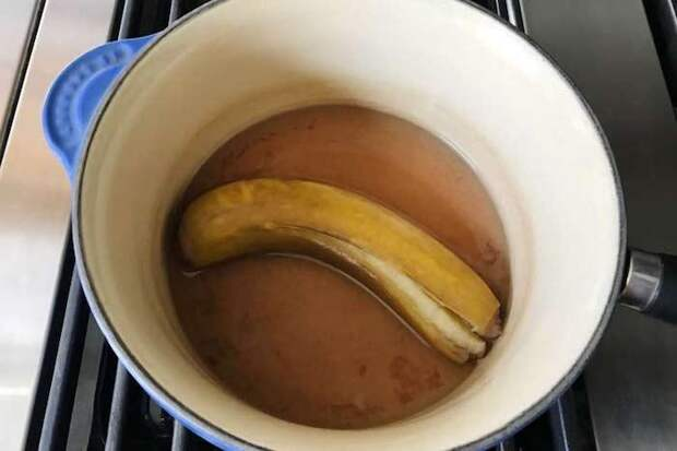 Банановая кожура против хандры.