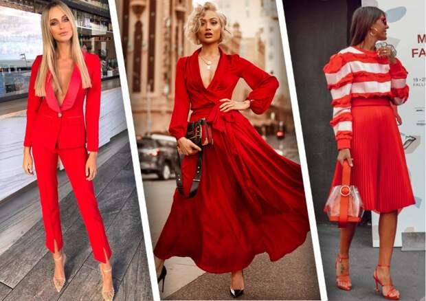 Модные летние образы в красном цвете: 15 огненных вариантов
