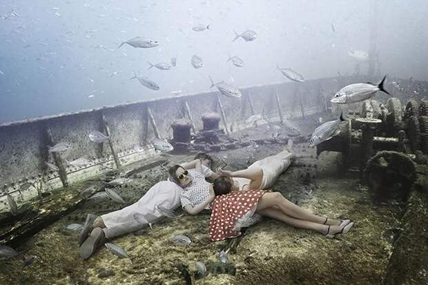 Жизнь назатонувшем корабле: подводный мир фотографа идайвера Андреаса Франке