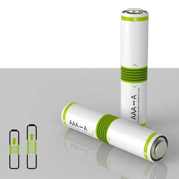 Безразмерная батарейка