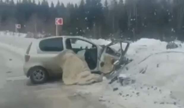 Возвращавшаяся домой свердловчанка погибла напермской трассе вДТП