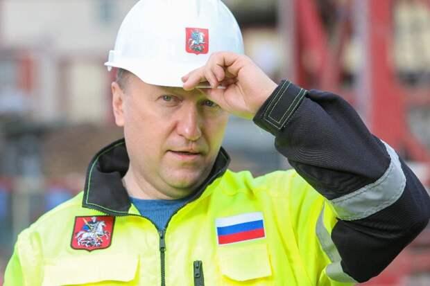 Андрей Бочкарев осмотрел ход строительства станции «Давыдково» с представителями МЧС