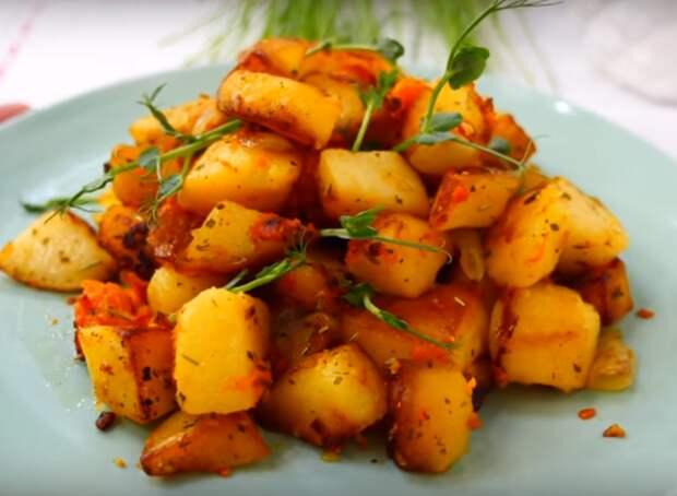 Вкусный и сытный картофель по-особенному (готовим в пост)