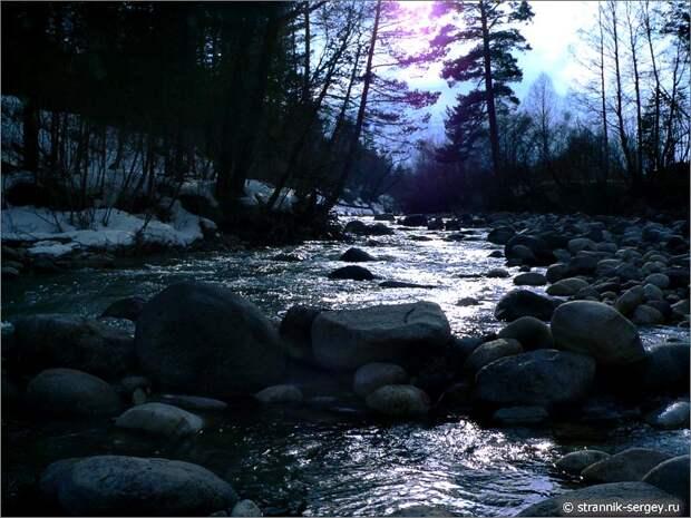 Баксанское ущелье горная река Баксан камни поток